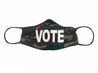 Camo Vote Face Mask