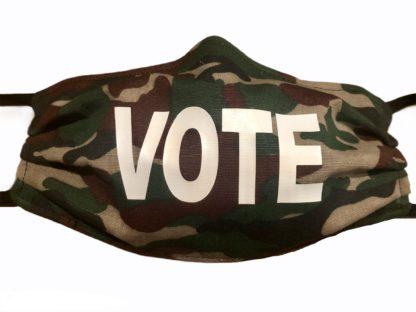 Camo Vote Face Mask