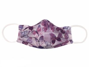 Lavender & Purple Butterfly Face Mask