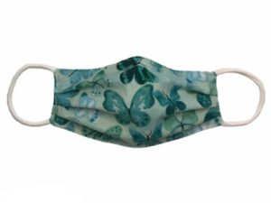 Green Butterfly Face Mask