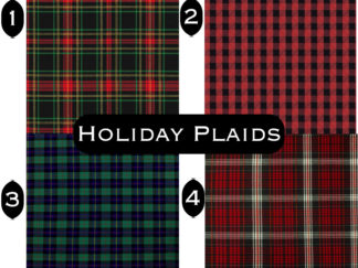 Holiday Plaid Fabrics