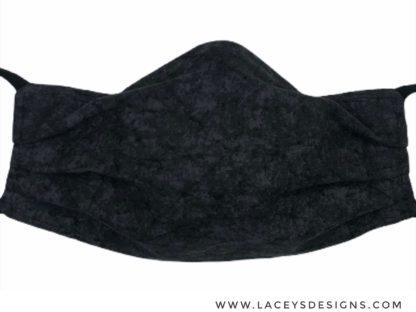 Black Distressed Face Mask