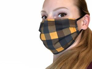 Fall Plaid Face Mask