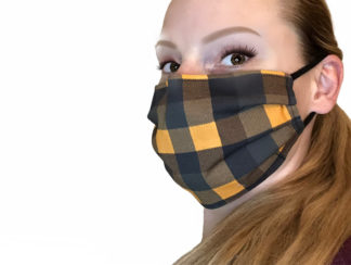 Fall Plaid Face Mask
